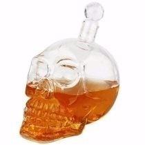 garrafa caveira crânio vidro crystal head 550ml whisky vodka