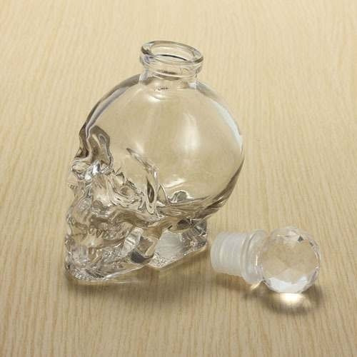 garrafa caveira em forma de crânio 125ml frete gratis!