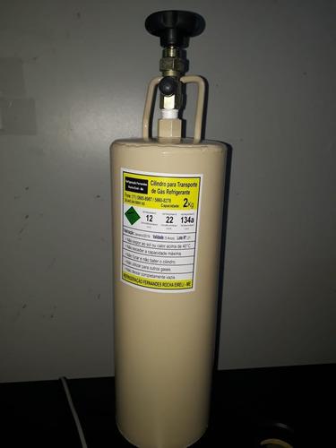 garrafa cilindro para transporte gás refrigerante 3kg