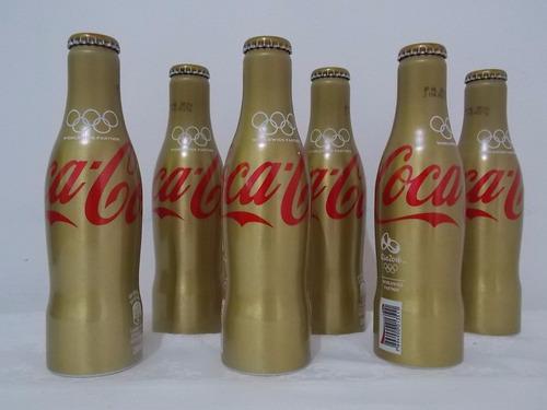 garrafa coca-cola alumínio edição especial olimpíadas 2016
