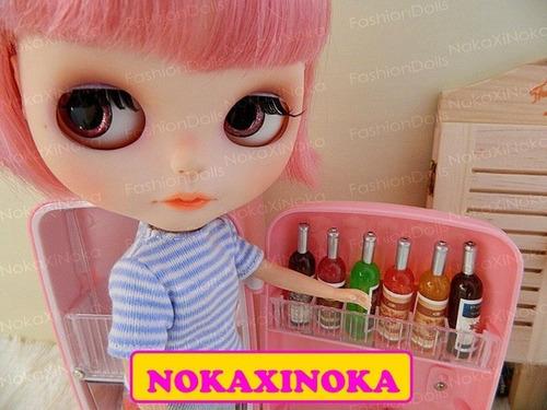 garrafa de bebida para boneca blythe barbie pullip * re ment