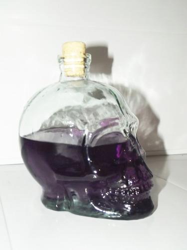 garrafa de caveira 700ml - cranios ossos vasos cristal vidro