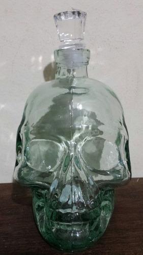 garrafa de caveira com tampa - vidro bebidas drinks cranios