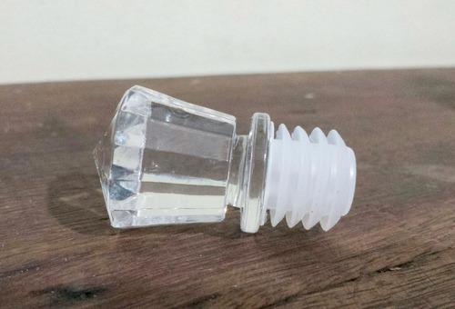 garrafa de caveira vidro c/ tampa - formato cranio cristal