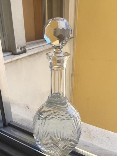 garrafa de cristal licoreira tampa sextavada estilo frances