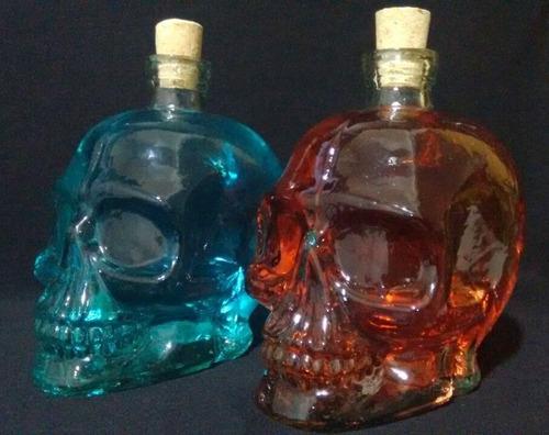 garrafa de vidro caveira cranio 750 ml