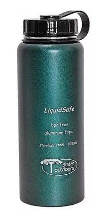 garrafa inox 1l - liquidsafe - sister outdoors boca larga