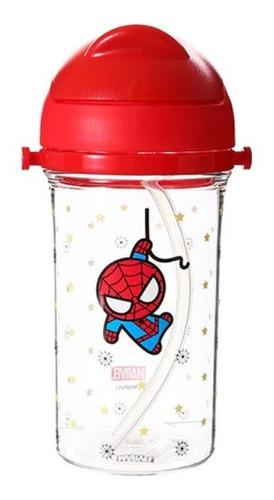 garrafa marvel homem aranha - miniso
