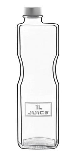 garrafa p/ suco e água vidro 1l optima juice - l. bormioli