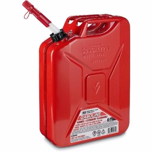Garrafa Para Gasolina 5 Galones Metalico Rojo 1 550 00