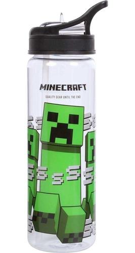 garrafa plástica escolar  minecraft 11485 squeeze 670ml