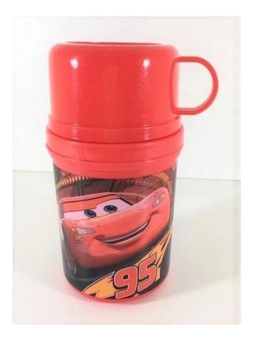garrafa plástica termofresh com caneca mcqueen carros disney