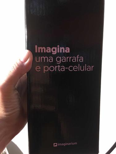 garrafa porta celular juntos