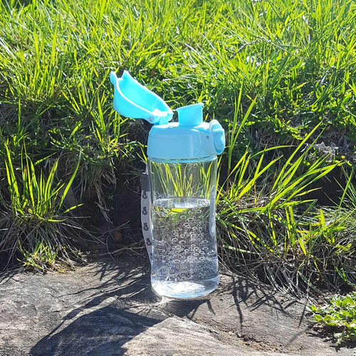 garrafa squeeze bubble plástico para água academia 400ml