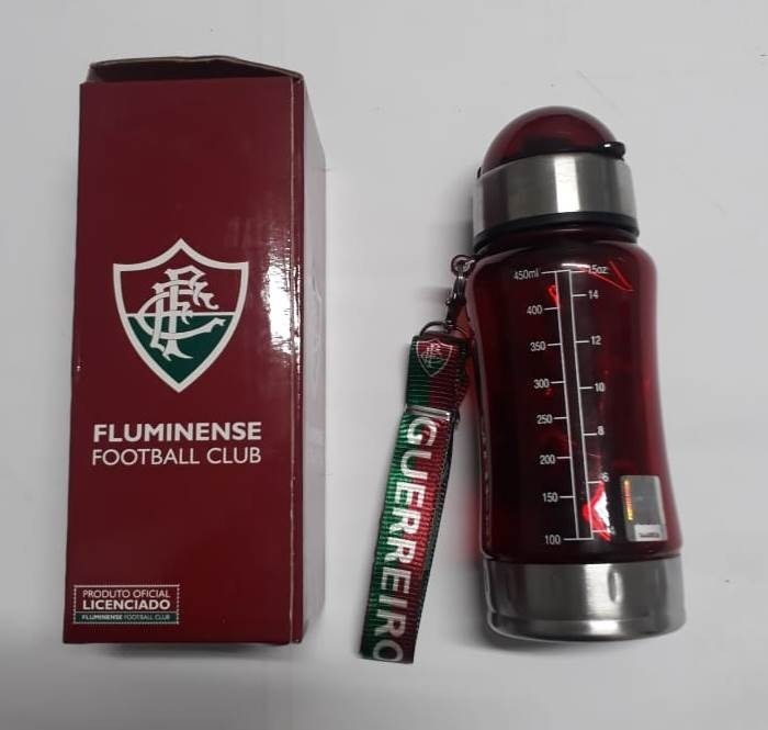 Garrafa Squeeze Fluminense + Mochila Produto Oficial 450 Ml - R  39 ... 126b7fbfb0ca8