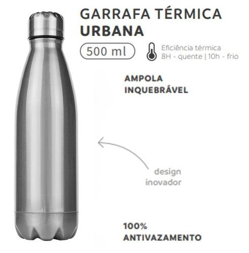 garrafa squeeze inox térmica 500 ml academia inquebrável