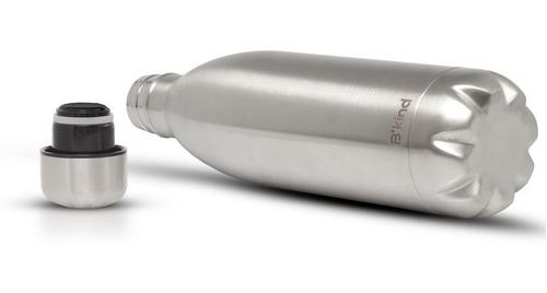 garrafa termica aco inox b'kind 1 litro - gelada por até 24h