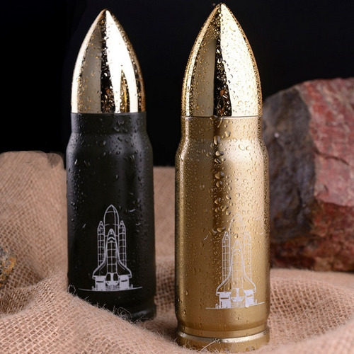 garrafa térmica bala de canhão.500 ml - bonito presente