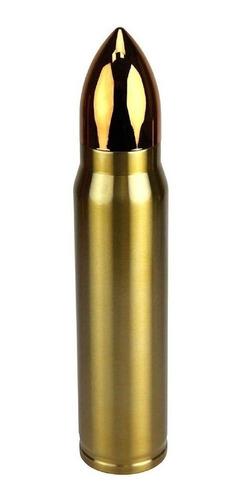 garrafa termica bullet dourado 1 litro formato projetil