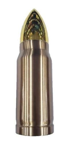 garrafa térmica formato de munição bala capsula dourada