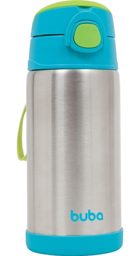 garrafa térmica infantil 400 ml azul - buba