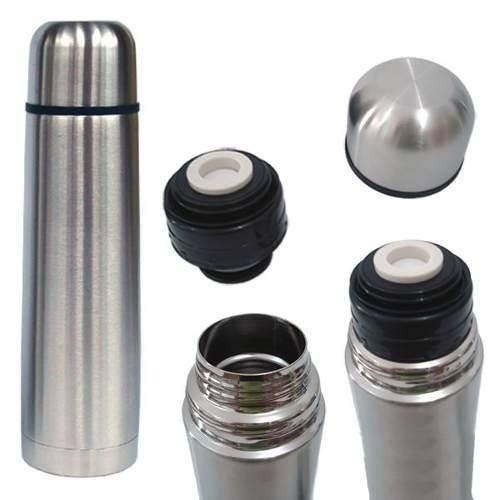 garrafa térmica inox 500ml inquebrável - café água chimarrão