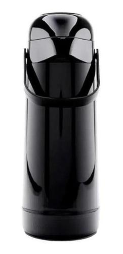 garrafa térmica pressão magic pump 1l preta termolar-8700prt