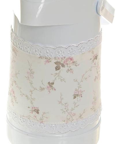 garrafa térmica termolar com capa e molhadeira menina bebê