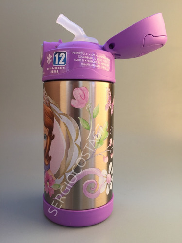 garrafa termica thermos infantil princesa sofia  frete baixo