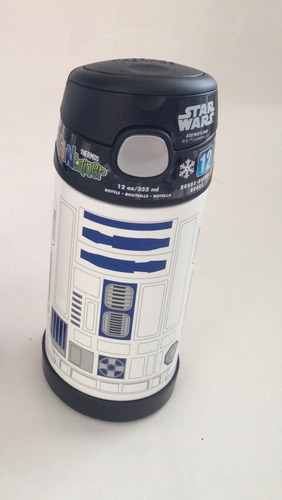 garrafa thermos termica  star wars r2d2 e batman - 355ml