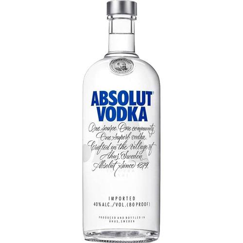 garrafa vodka absolut natural 1 litro original c/ dosador