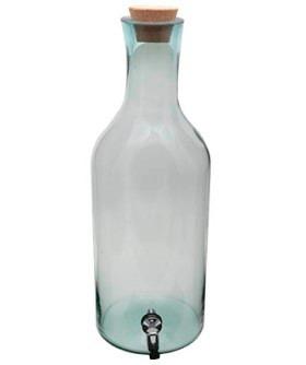 garrafao de vidro 8 litros c/ torneira /suqueira