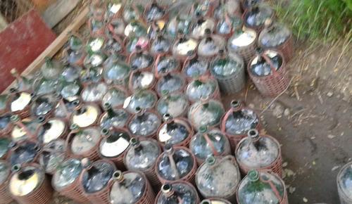 garrafas de 5 litros de vidrio