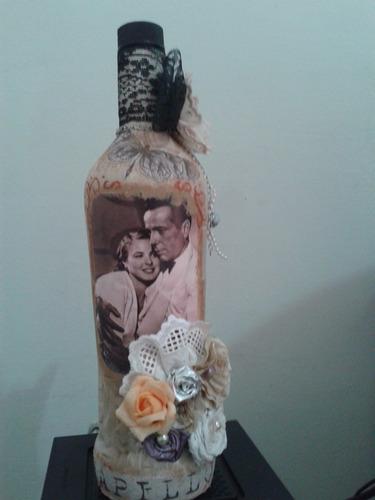 garrafas decoradas com barbantes, pintura,decoupagem, flores