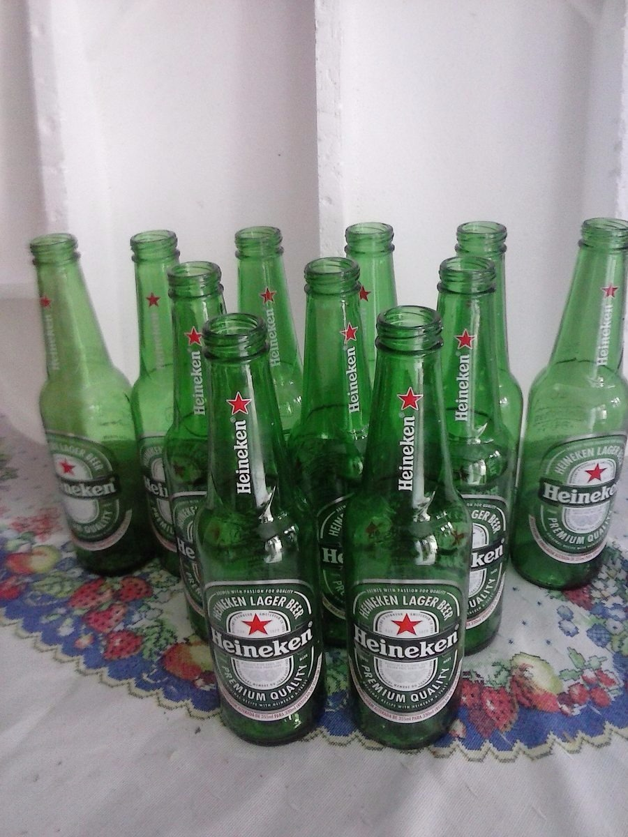 Garrafas Heineken 350 Ml Vazias 25 Unid Artesanato Decoração R 15