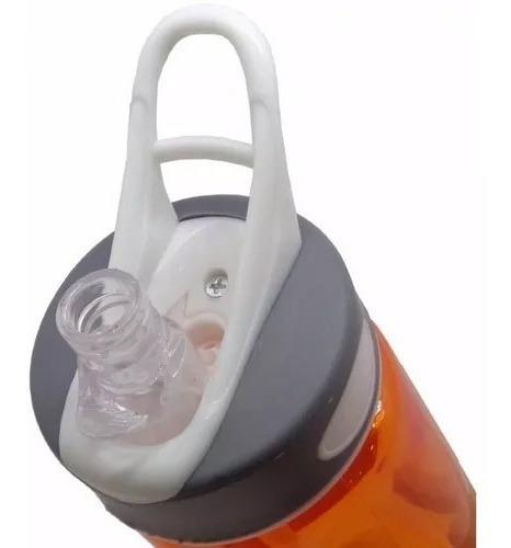 garrafinha squeeze laranja com bico esportes fitness ciclismo academia atletismo corrida branco e vermelho atrio 700ml