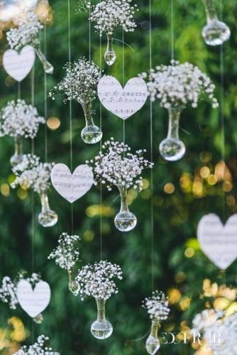 garrafinha-vidro pendurado-arranjo suspenso casamento 60 uni