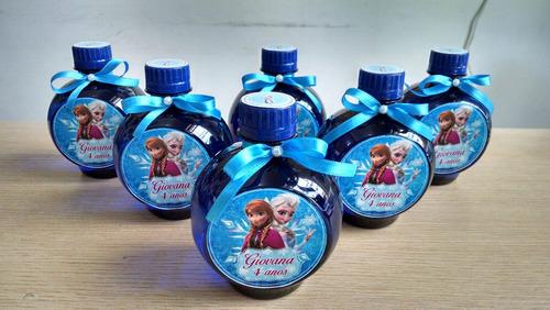 garrafinhas personalizadas frozen- água ouro fino - 10 unid