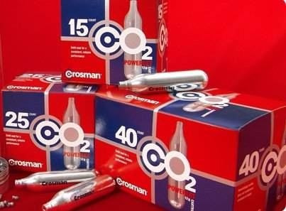 garrafitas co2 caja de 40 garrafitas crosman de 12 g