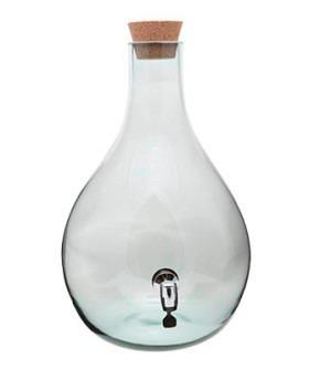 garrafão de vidro 3,2 litros c/ torneira /barril /tonel/