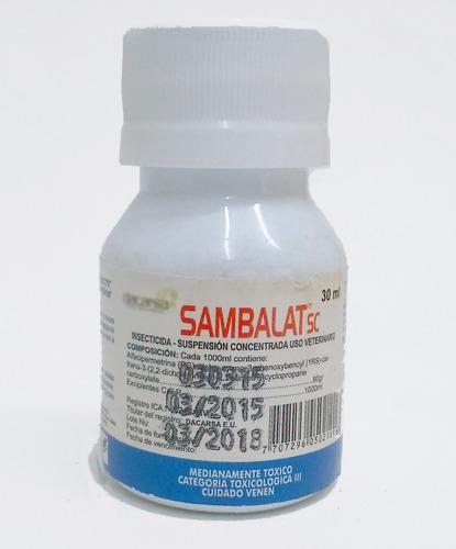 garrapatas, pulgas, chinches y acaros. insecticida 30 ml