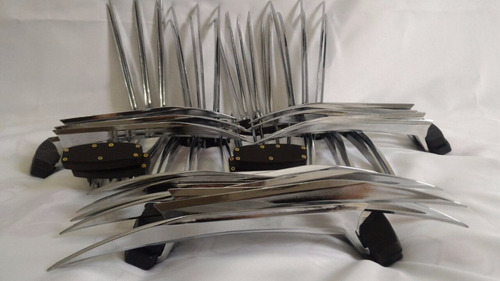 garras do wolverine em metal cromado edição de colecionador