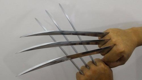 garras wolverine adulto rígida abs cromado+tag frete grátis