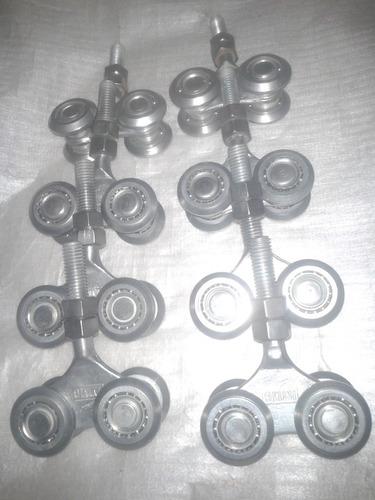 garruchas r30 de 4 ruedas para riel de 2pulgsdas
