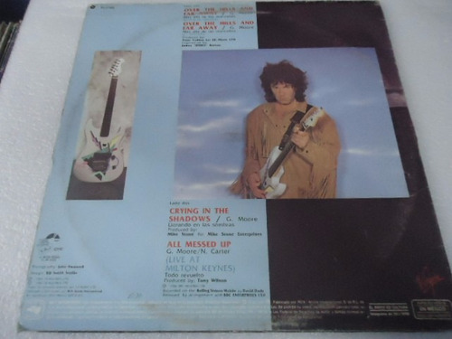 gary moore / over the hills and far away vinyl lp acetato