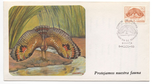 garza sobre primer día 1990 fauna colombiana