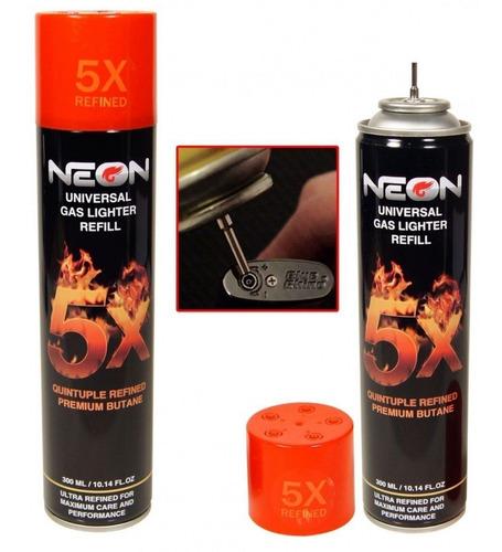 gas butano neon grande refinado flameadores yesqueros