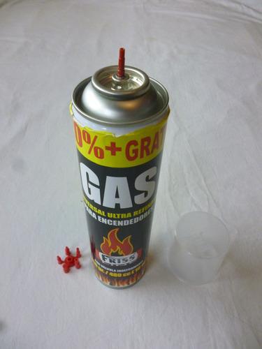 gas butano para recargar todo tipo de encendedores