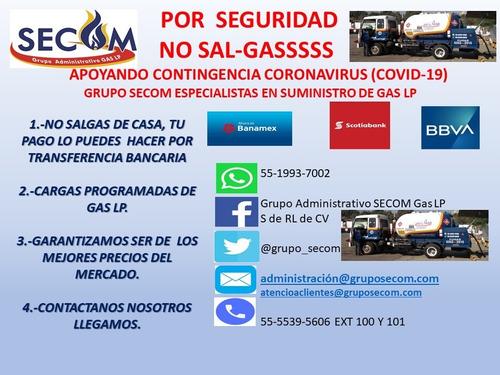 gas lp para tanques estacionarios  en cdmx