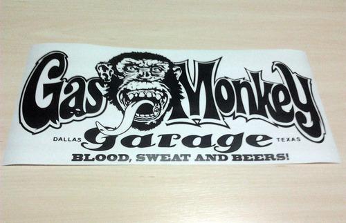 gas monkey garage sticker 100% calidad